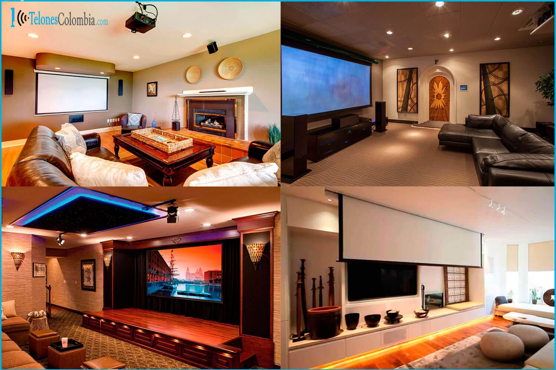 Pantallas De Proyeccion Para Cine En Casa Cine en casa con pantalla ...