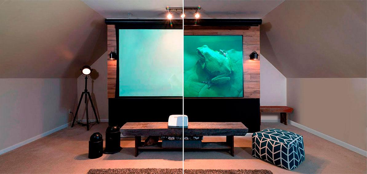 Pantalla de video beam vs televisor taringa for Pantalla proyector electrica