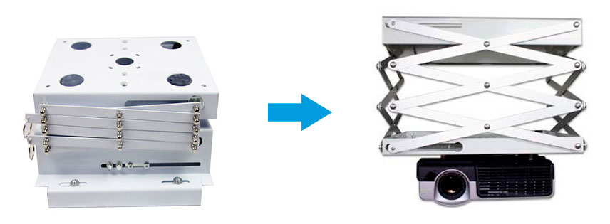 Soporte tipo ascensor para video beam